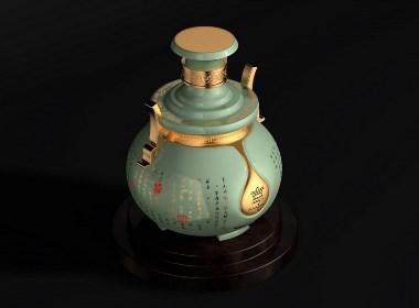 传情之酒-名酒都网定制酒瓶包装设计-青柚设计原创