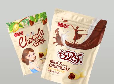 酷莎巧贝乐巧克力夹心奶糖包装设计