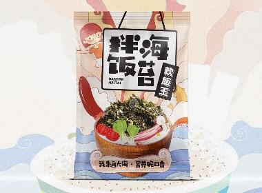 拌饭海苔手绘包装设计