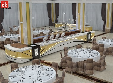 迪克森自助餐台翻新维护、固定自助餐台、自助餐台图片设计定制