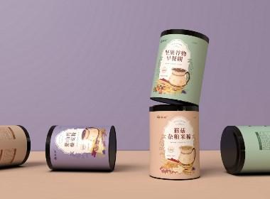 五谷磨粉系列早餐糊、代餐粉包装设计