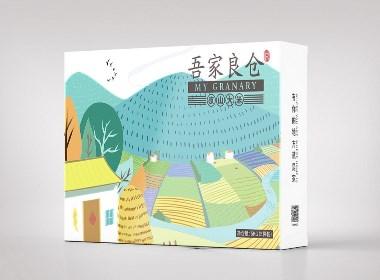 京山大米手绘包装设计一系列