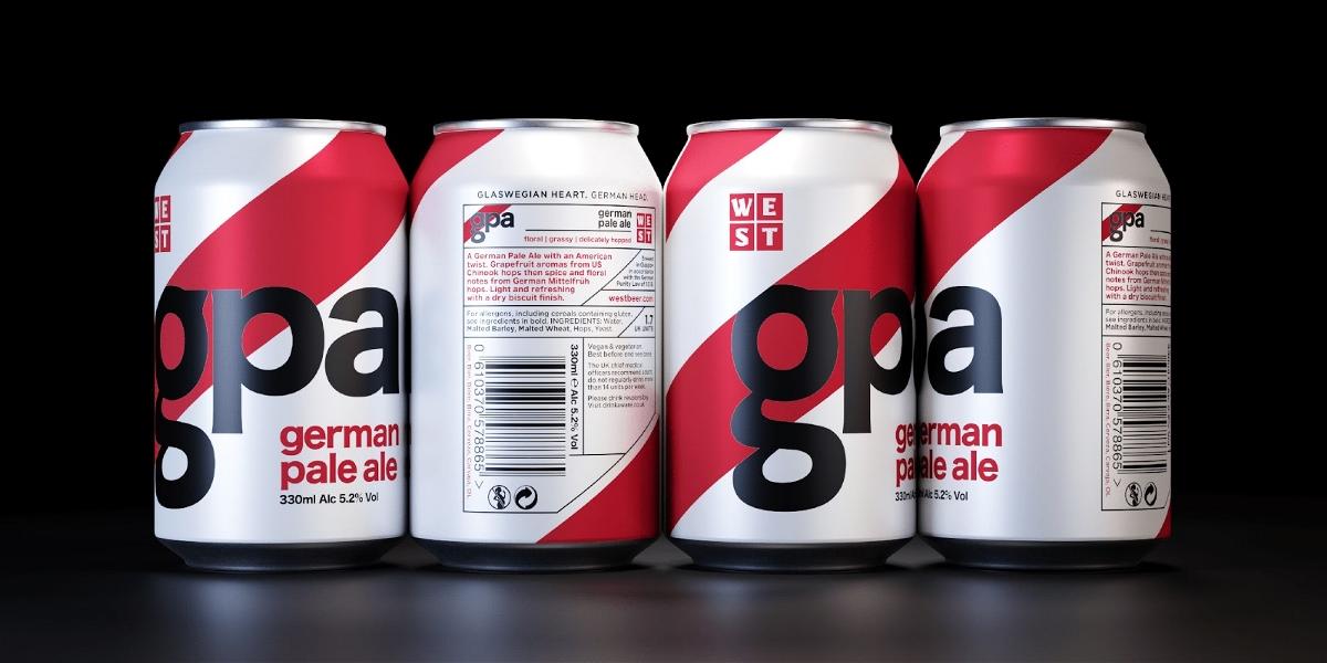 WEST罐装啤酒包装设计