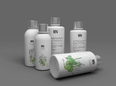 米妮 沐浴露 洗发水 护肤品 瓶子设计 C4D 4D包装设计 设计生产一站式服务