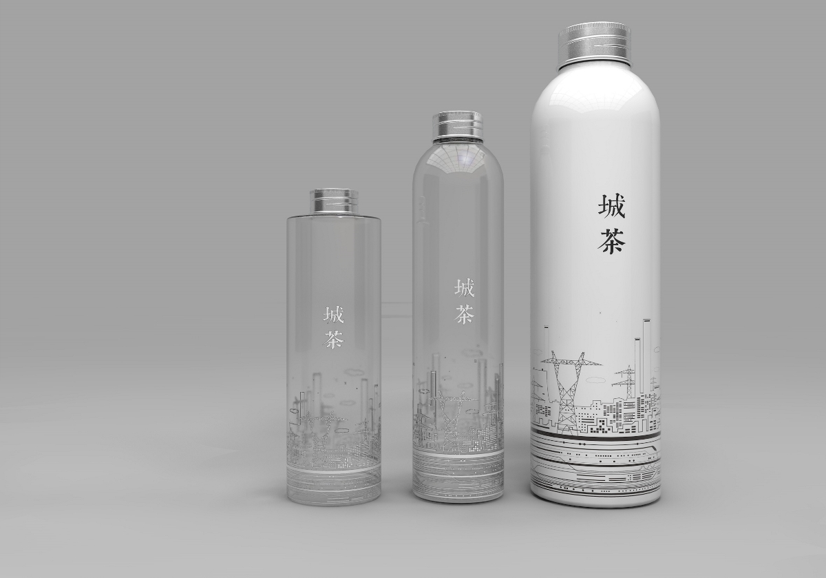 潮飲 奶茶瓶 奶茶杯 飲料瓶 果汁瓶 包裝設計 c4d 3d設計 手繪包裝