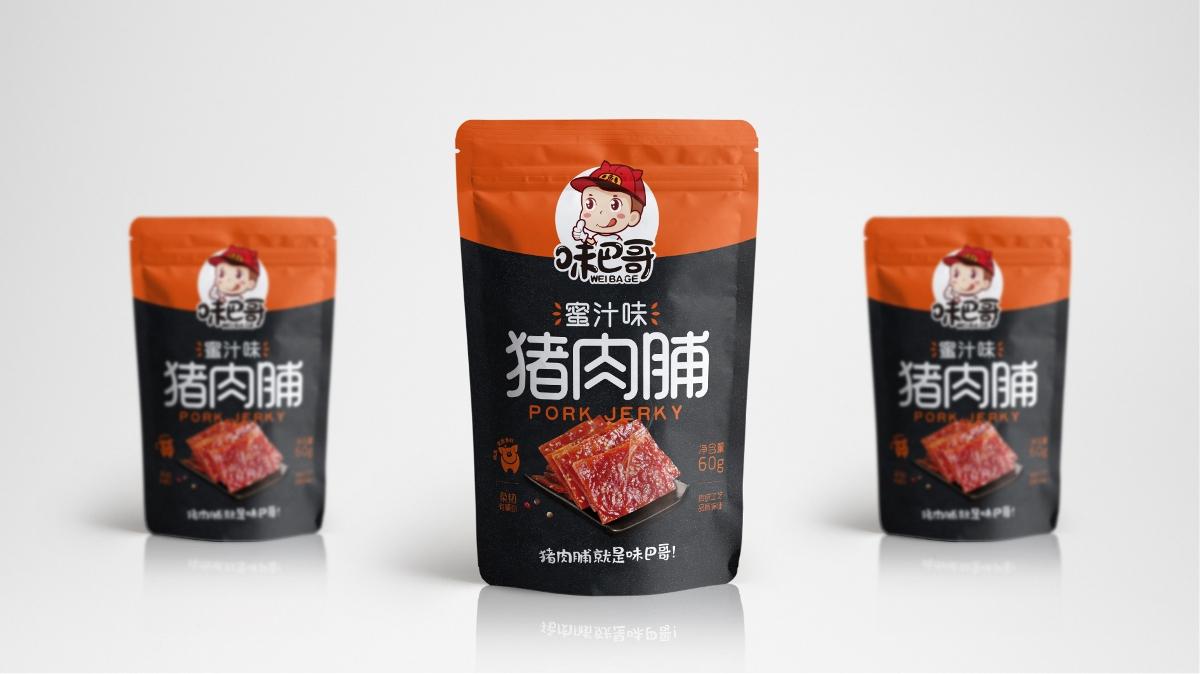 味巴哥礼盒及猪肉脯包装设计