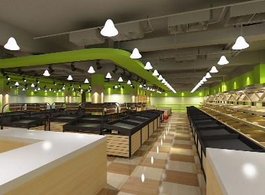 昆明农贸市场设计/菜市场整体规划/生鲜超市设计公司