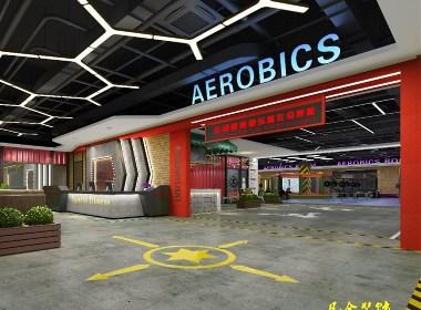 郑州健身房设计-800平方健身房设计装修效果图