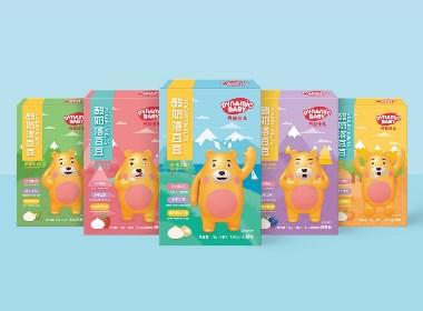 丹宜佳儿儿童酸奶溶豆豆卡通包装设计