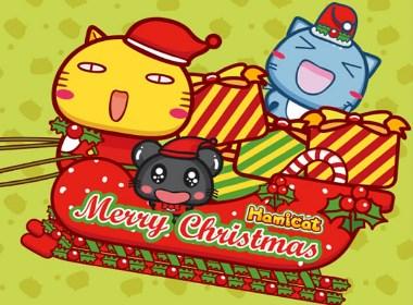 哈咪猫圣诞快乐微信表情