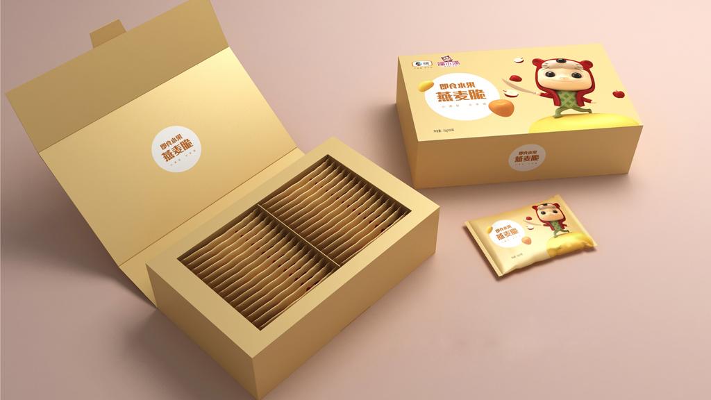 中糧福小滿包裝 即食水果燕麥脆包裝 休閑食品包裝設計