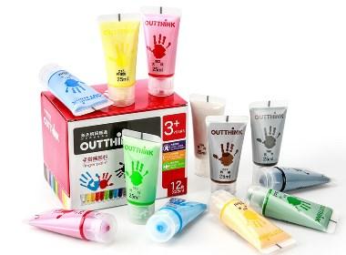 儿童 手指画 包装设计