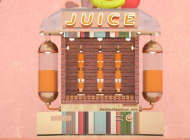 趣味饮料机C4D建模