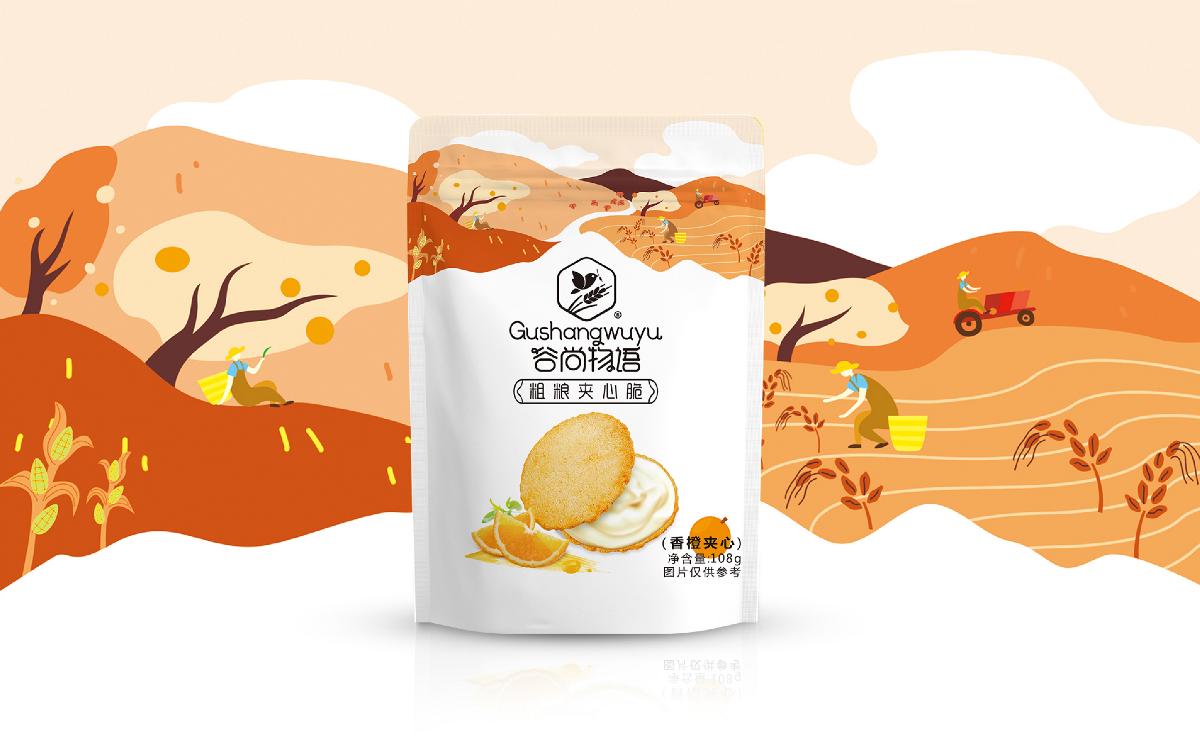 【知行】谷尚物语饼干创意包装设计