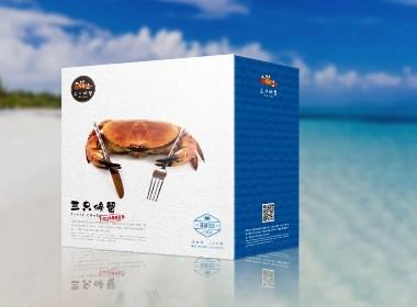 【海鲜包装】三只螃蟹海鲜包装设计+包装生产