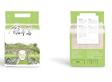 【大米包装】稻本香包装设计+包装生产
