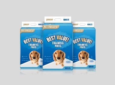 All-Absorb宠物护理垫包装设计