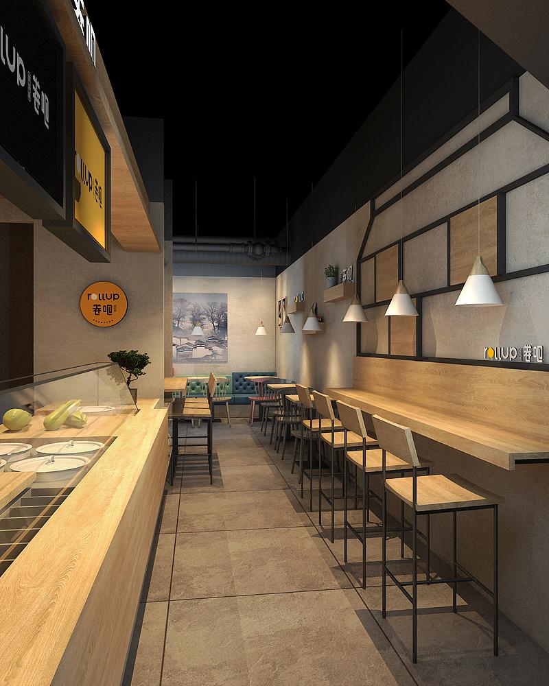 特色饮品小吃店设计-深圳卷吧
