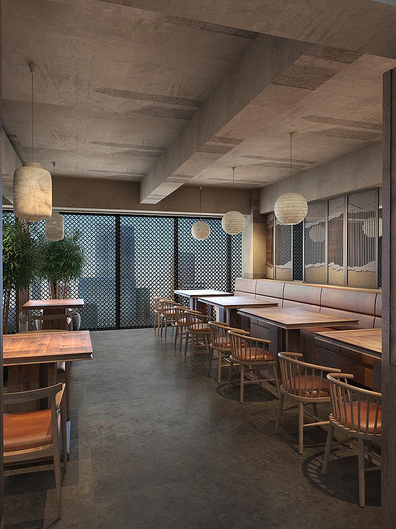 徽派主题餐厅设计-北京杨记兴