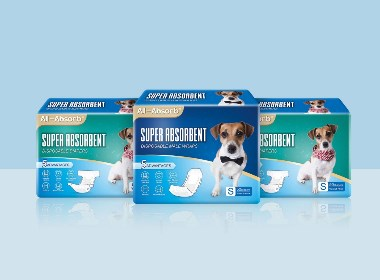 All-Absorb宠物纸尿裤包装设计
