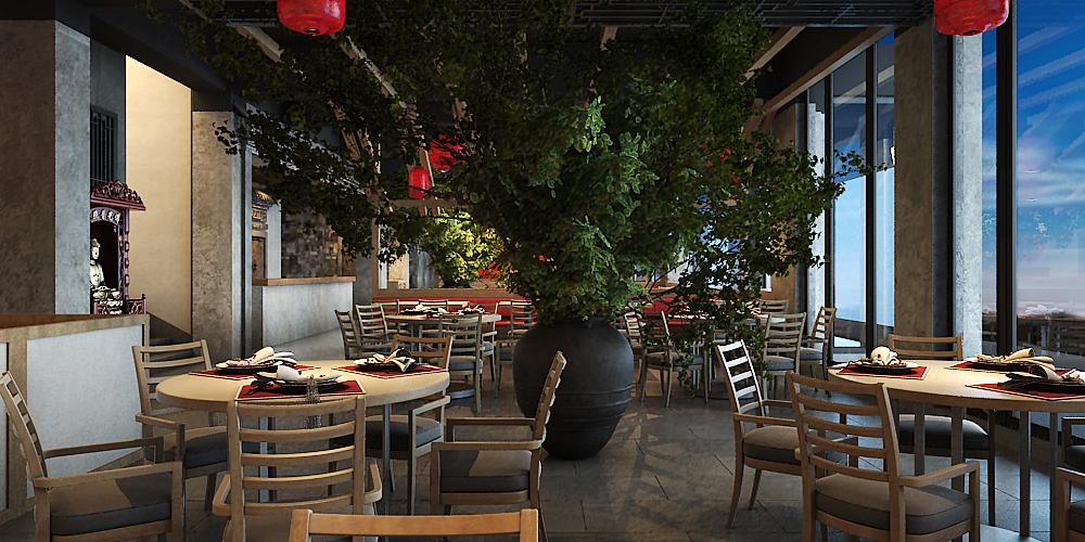 秦皇岛沸腾鱼乡主题餐厅设计