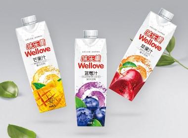 味乐美果汁饮料包装恒耀平台-万域包装原创作品