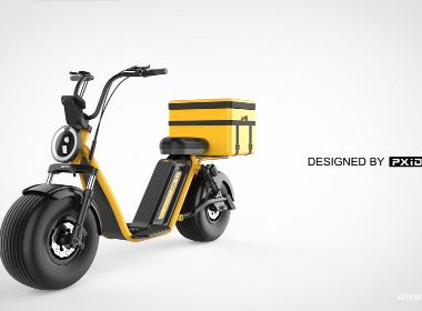 哈雷踏板车—外卖车