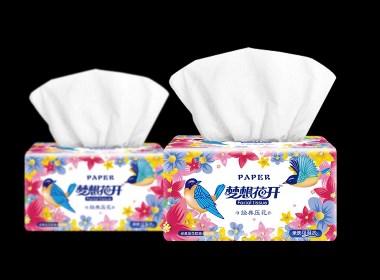 梦想花开和龙竹三款纸巾包装