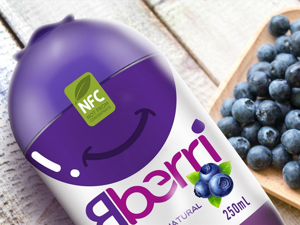 Bberri蓝莓汁・饮料包装设计