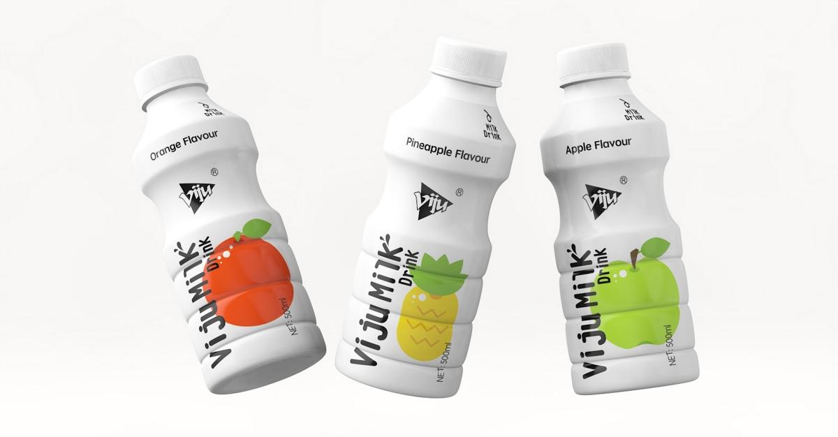 唯久—果味奶&烤酸奶・饮料包装设计