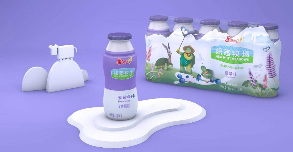 果仙多维—纽西牧场・饮料包装设计