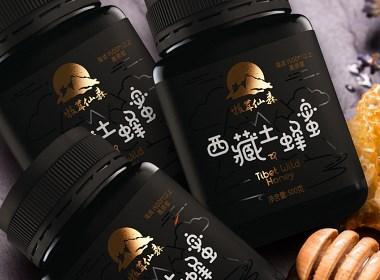 西藏土蜂蜜・食品包装设计