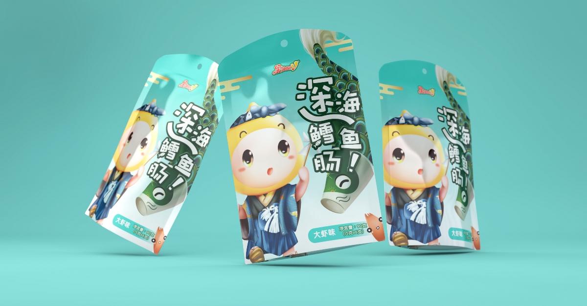 果仙多维—鱼肠系列・食品包装设计