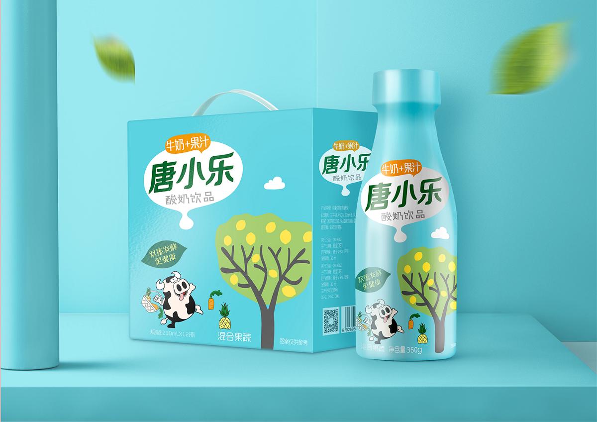 唐小乐酸奶包装