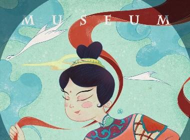 博物馆-明代斗彩瓷人