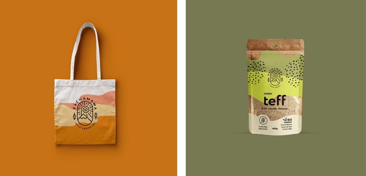 国外的一款谷物燕麦包装