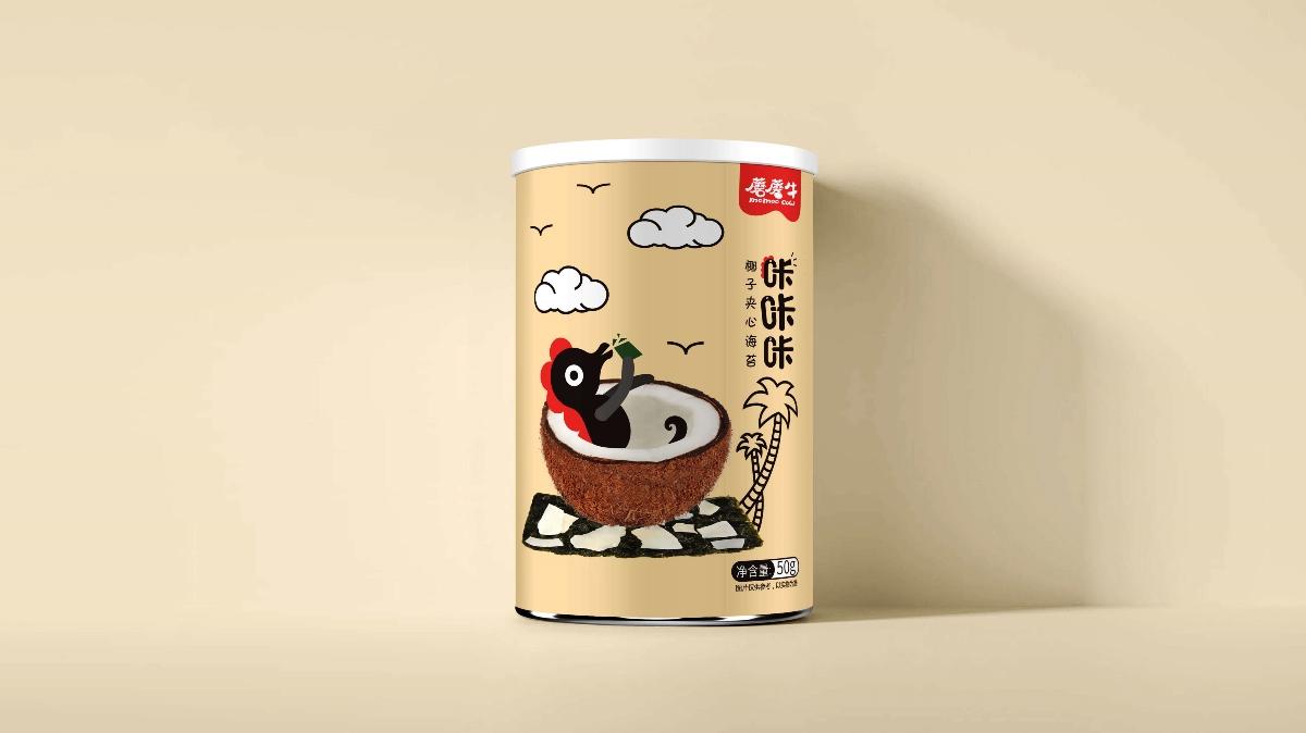 蘑蘑牛——兒童休閑食品海苔包裝設計