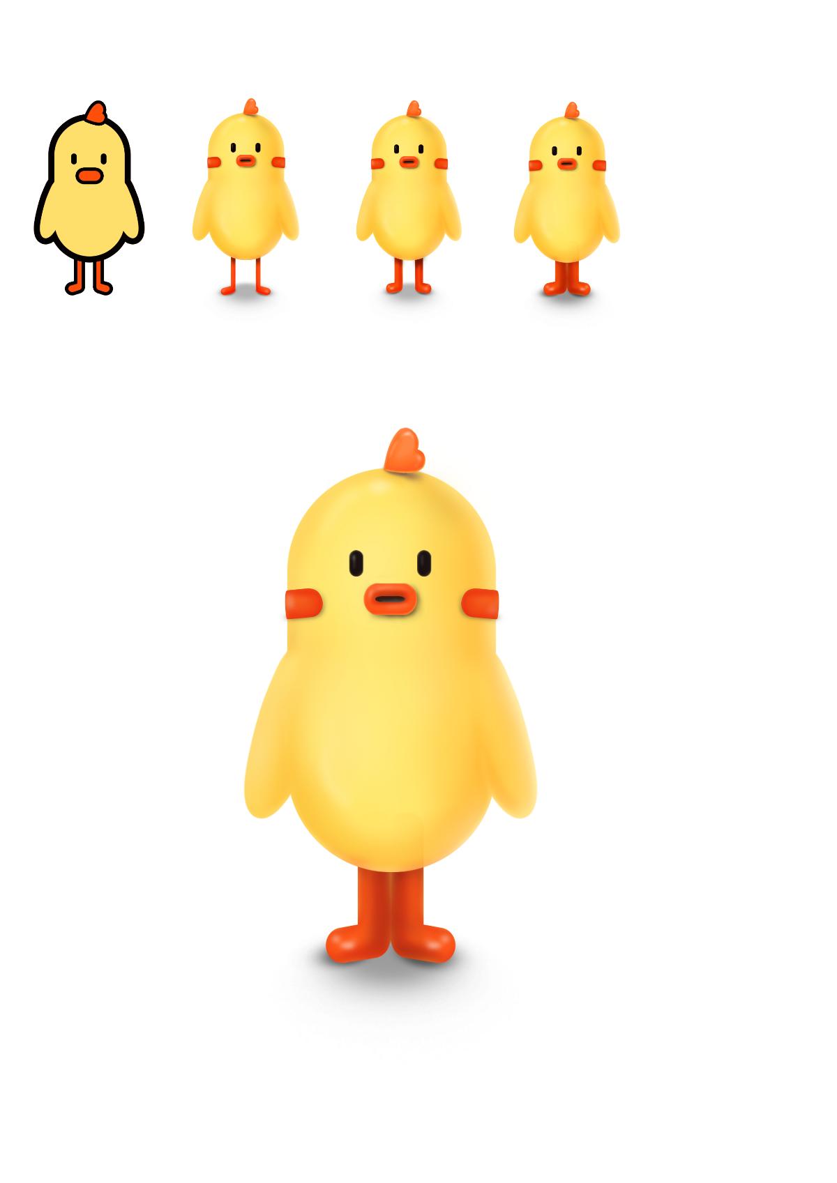 小呆鸡的日常 表情包