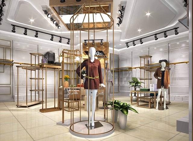 (3)欧式风格的服装店装修,始终不失高端大气之本色,成为许多店主的