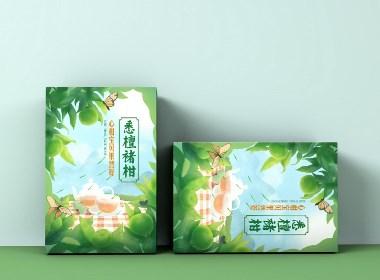 悉檀褚柑手绘包装盒设计