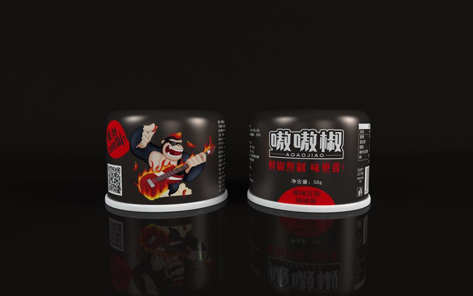 嗷嗷椒鮮椒醬-瑞智博誠品牌設計