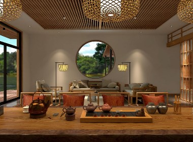 新中式风格山中小院设计-叶平设计作品