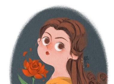 无敌破坏公主插画设计