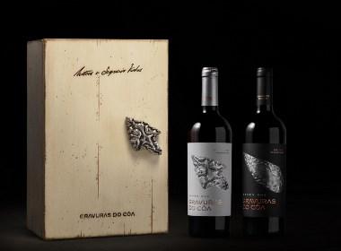 高档葡萄酒木盒包装设计,瓶型设计