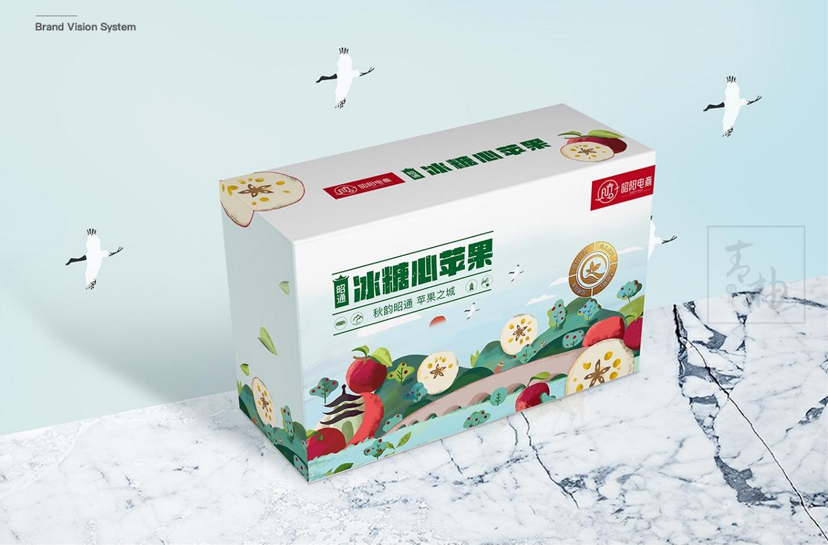 云南地理标志证明产品-昭通苹果全案策划 -青柚设计原创包装设计