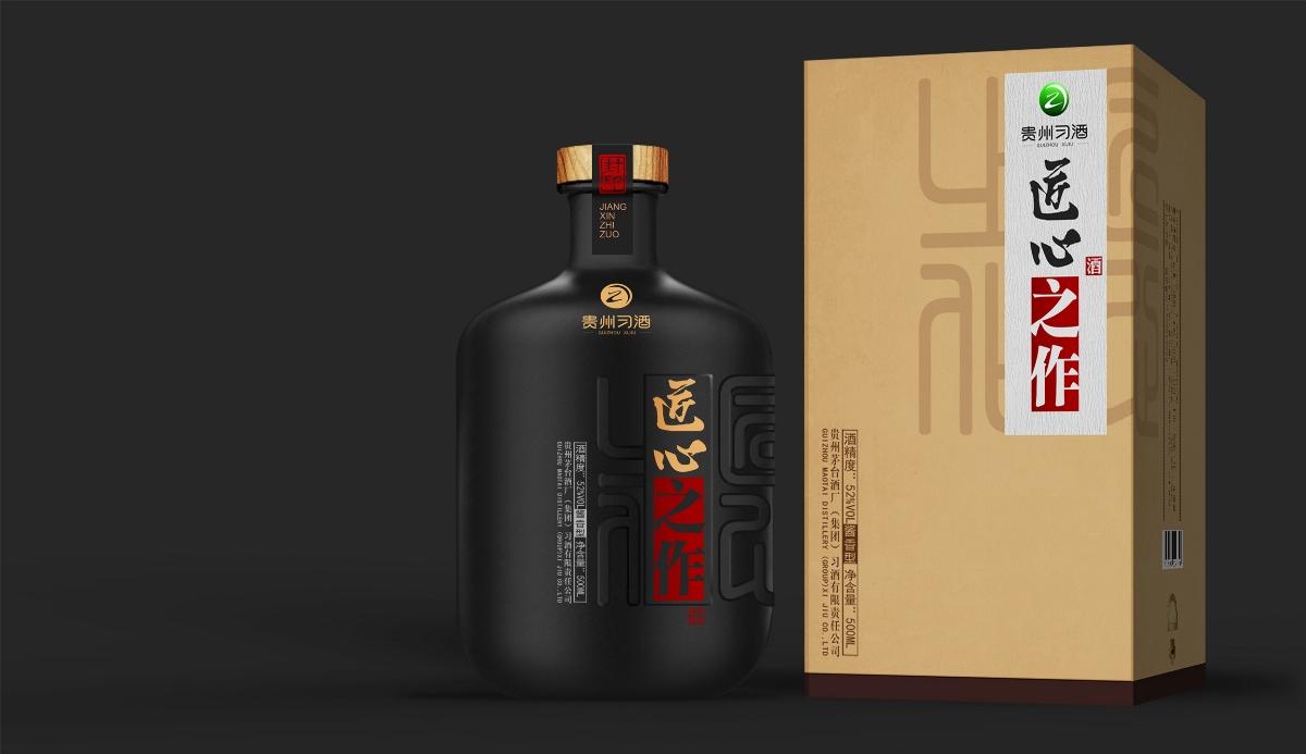 习酒-匠心之作,酱香型白酒,酒包装设计,酒瓶设计,酒品牌设计,白酒设计