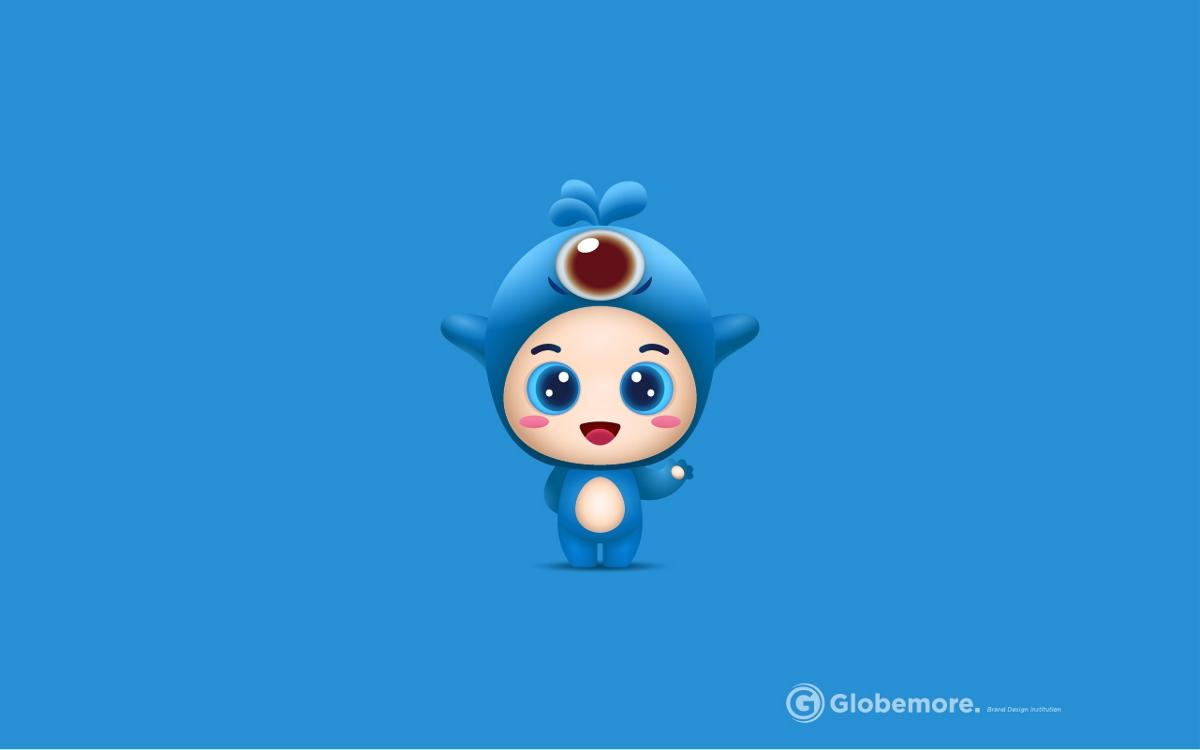 济南插画文创/海洋吉祥物/小鲸灵-耕阡陌出品