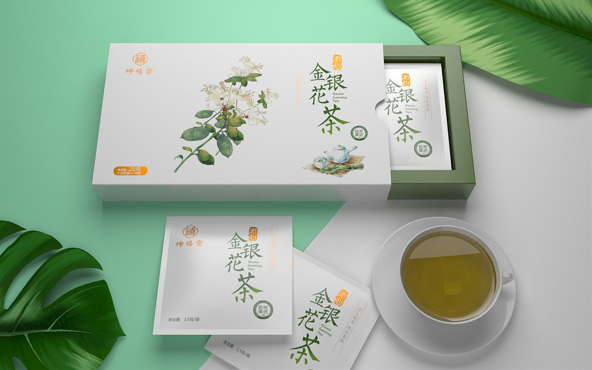 代用茶包装设计 袋泡茶包装设计 保健茶包装设计【广州领秀原创设计】