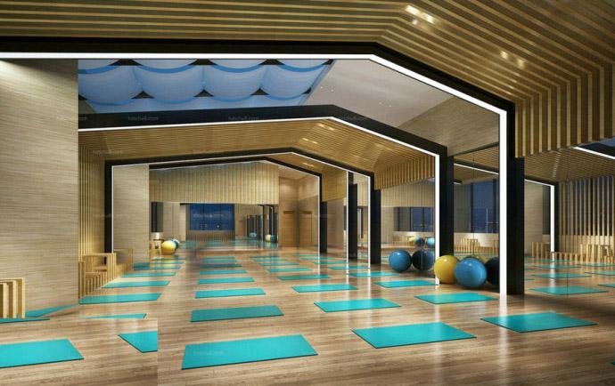 瑜伽室設計案例效果圖
