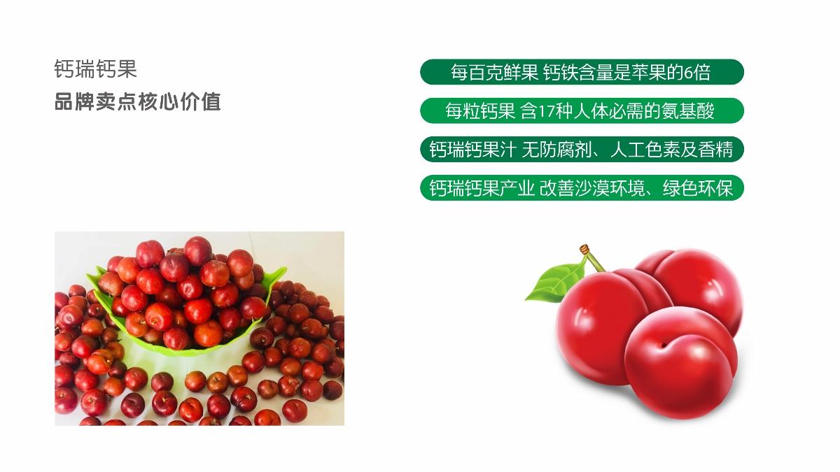 【钙瑞】钙果品牌策略设计-植物钙,吸收快。
